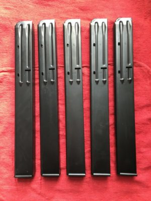 Uzi 22 rnd .45acp Steel Magazine - Promag Industries - Lot of 5
