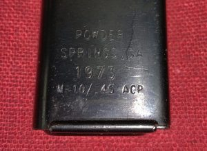 Powder Springs M10/.45 acp 30 Round Cut/Modified M3 Grease Gun Magazine